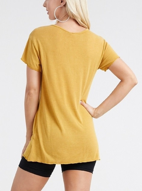 Stay Golden Graphic Tee Mustard