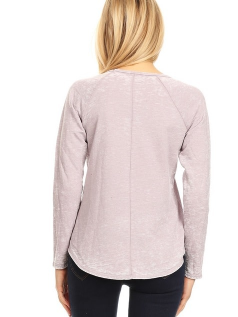 Road Trip Reverse Seam Top Dusty Pink