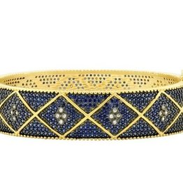 Freida Rothman Pave Wide Hinge Bangle