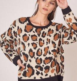 Round Neck Animal Print Sweater