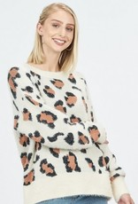 Animal Print Knit Pullover