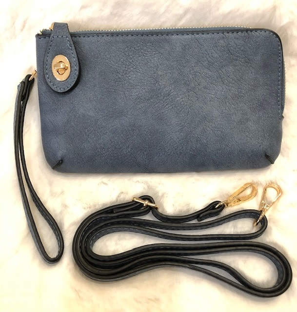 Lock Closure Wristlet/Crossbody