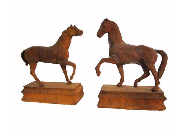 Thoroughbred Horse, Left & Right Pair