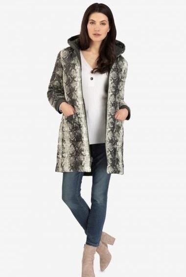 Tribal Reversible Zip Front Coat