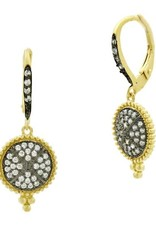 Freida Rothman Signature Pave Hook Earrings