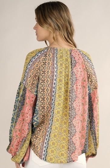 Marrakesh Print Top Multicolor