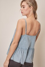 Short Ruffle Tank Top