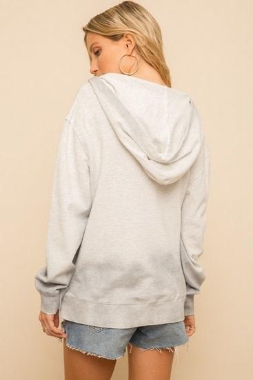 Spray Dyed Oversized Hoodie Grey