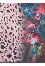 Animal Floral Combo Print Scarf Multicolor
