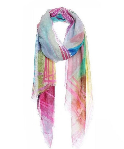 Soft Rainbow Color Scarf