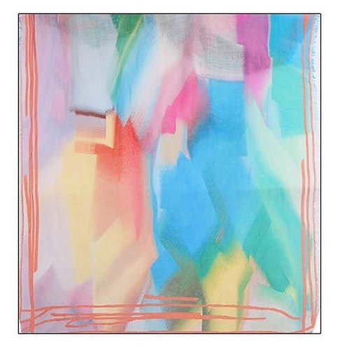 Soft Rainbow Color Scarf