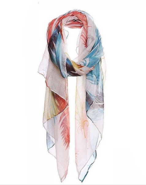 Soft Feather Print Scarf