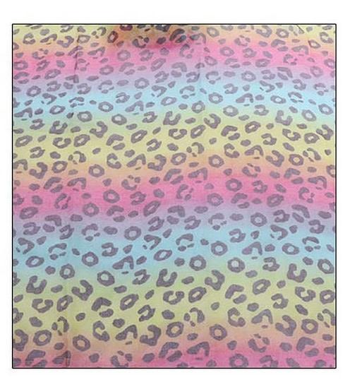 Rainbow Leopard Fashion Scarf