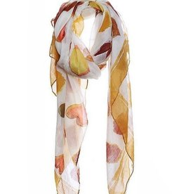 Watercolor Heart Print Scarf