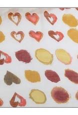 Watercolor Heart Print Scarf