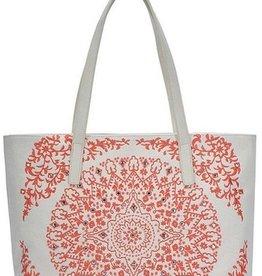 Mandala Pattern Embroidery Tote Bag