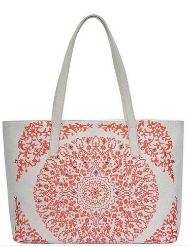 Mandala Pattern Embroidery Tote Bag