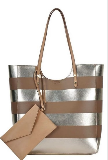 2 in 1 Striped Fashion Tote