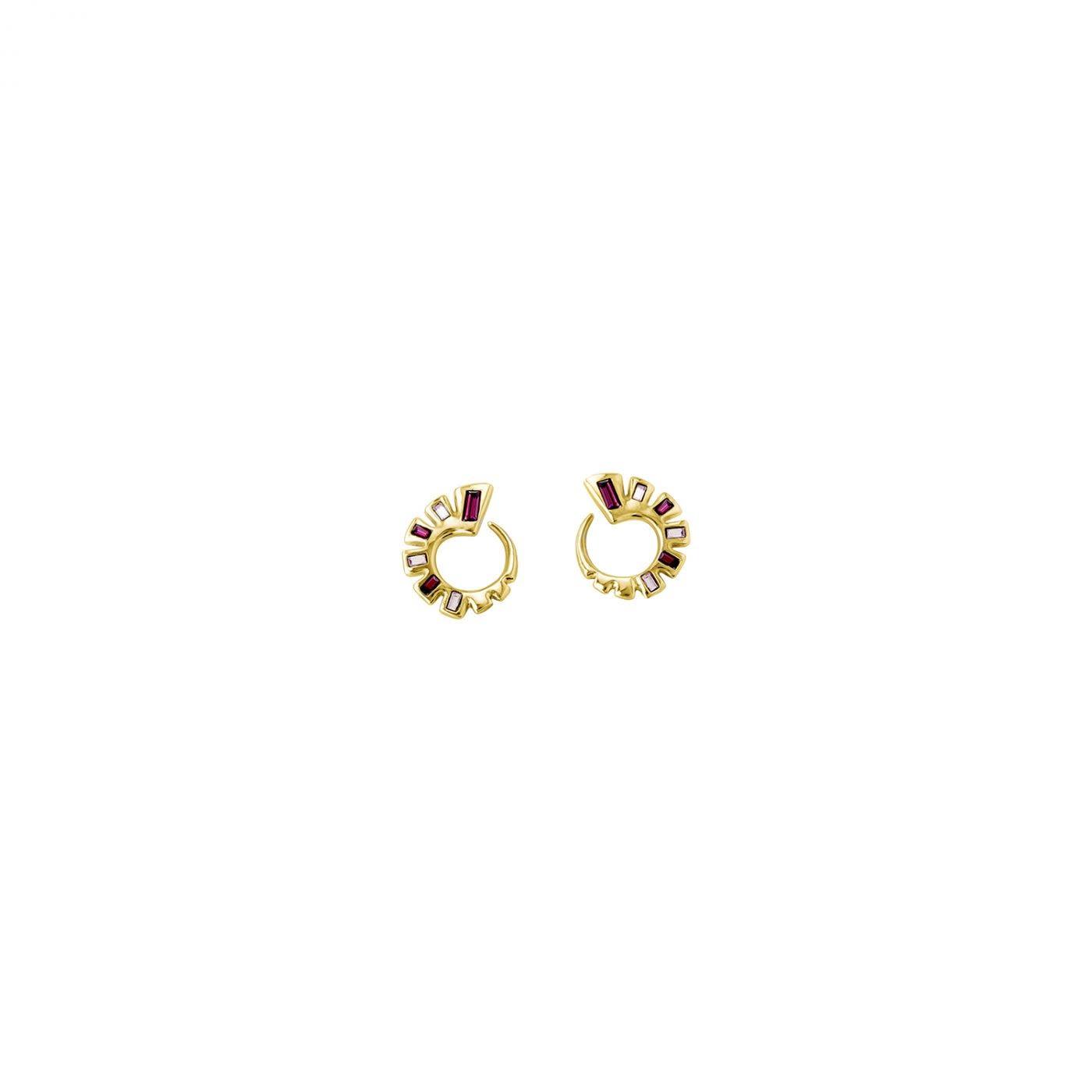Uno de 50 Nightbird Wrap Earrings Gold