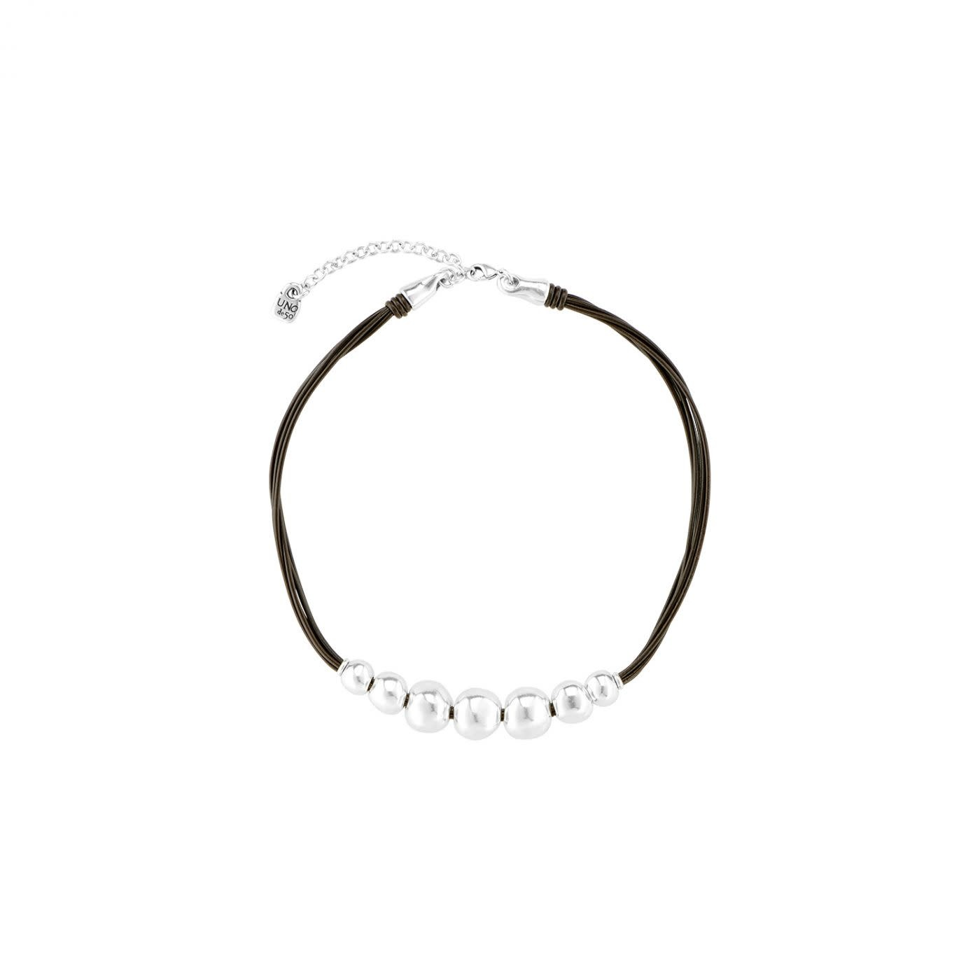 Uno de 50 Aligned Necklace Silver