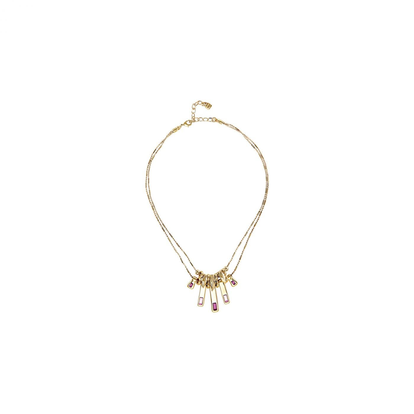 Uno de 50 A Tickle With A Feather Necklace Gold