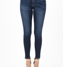 KanCan Mid Rise Super Skinny Jean Faded Dark