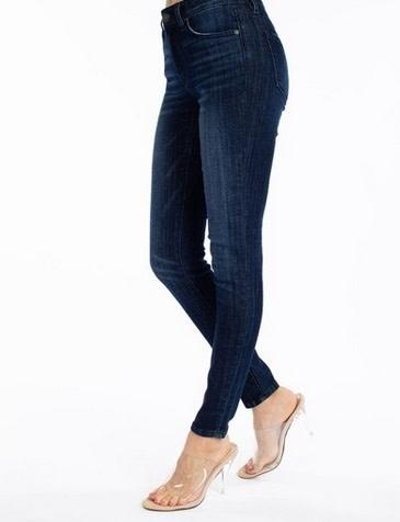 KanCan Mid Rise Super Skinny Jean Dark Wash