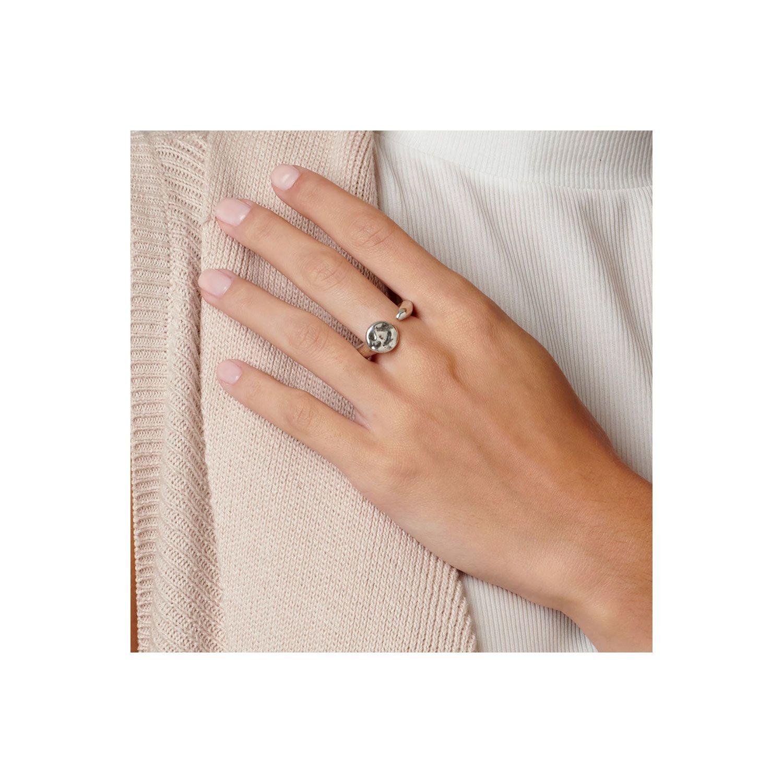 Uno de 50 Nail Ring Silver