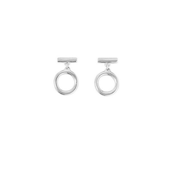 Uno de 50 On / Off Short Dangle Earring Silver
