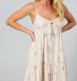 Wildflower Ruffle Dress Natural