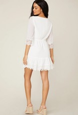 Chiffon on the Spot Dress Ivory