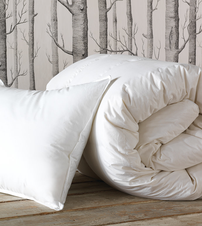 Loure Faux Down Bed Pillow
