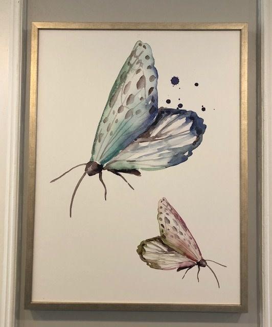 Whimsical Moths 2 - 30 x 40