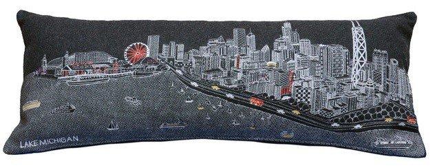 Chicago Wool Lumbar Pillow Night - King