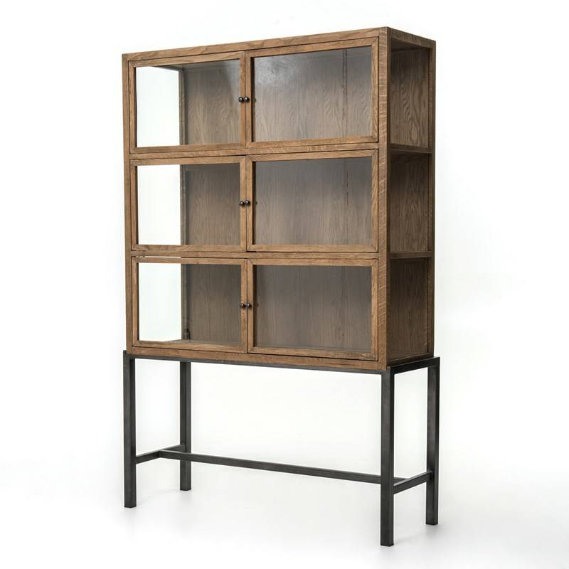 Spencer Curio Cabinet - Drifted Oak