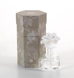 Zodax White Hibiscus Grand Casablanca Pocelain Diffuser