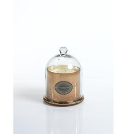 Mercury Glass Jar Candle with Cloche Antique Copper - Italian Citron Medium