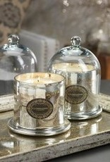 Mercury Glass Jar Candle with Cloche Antique Silver Small