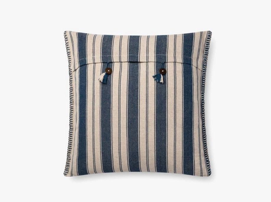 Nautical Stripe Pillow Indigo/Natural - 22 x 22