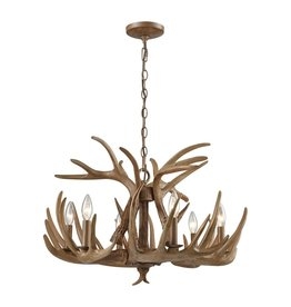 Antler Chandelier Brown