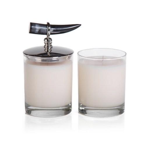 Cote d'Ivoire Scented Candle with Horn Lid - Mandarin Fig