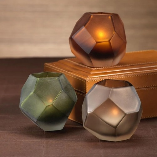 Multi-sided Tealight Holder - Green