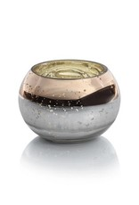 Etched Candle Bowl - Gold