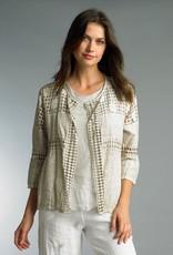 Lace Cutout Jacket Beige