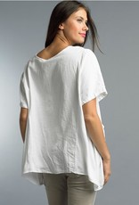 Combo Tunic with Pockets White