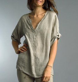 Roll Up Sleeve Linen Tunic