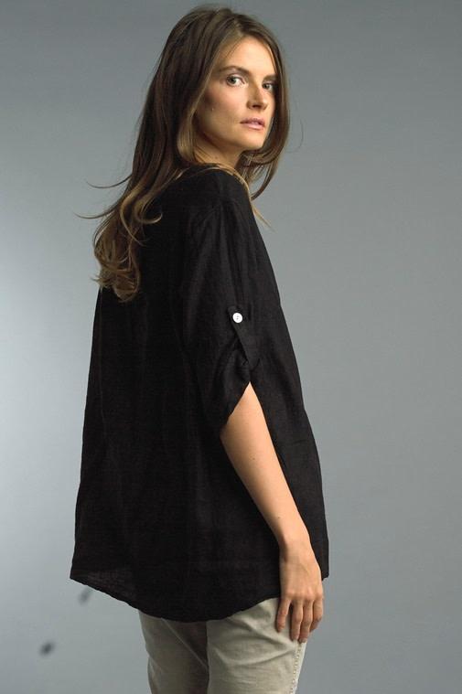 Roll Up Sleeve Linen Tunic