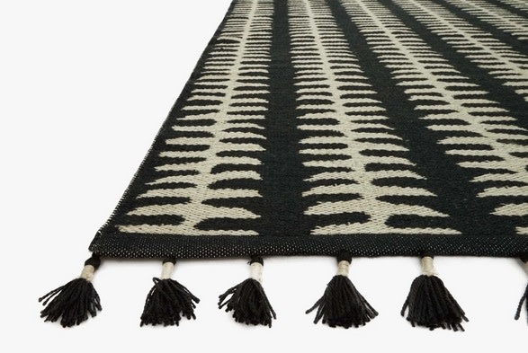 Kahelo Rug Black/Grey