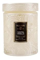Santal Vanille Small Embossed Jar Candle