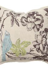 Paradise Bluebird Pillow - 18 x 18